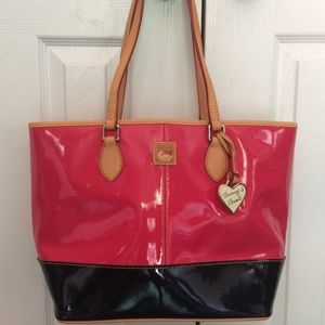 Dooney & Burke Patent Leather Two Tone Purse
